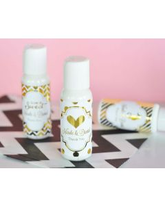 Personalized Metallic Foil Lotion - Wedding