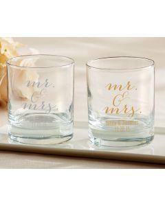 Personalized Rocks Glasses - Mr. & Mrs.