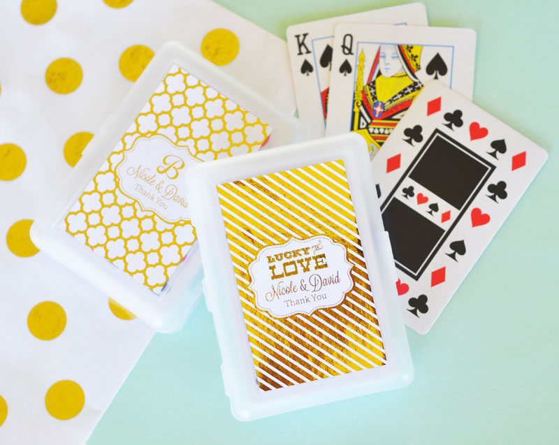 Personalized Metallic Foil Playing Cards