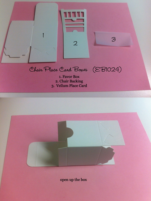 Assemble Instructions for Chair Place Card Boxes 1